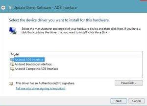 ADB interface