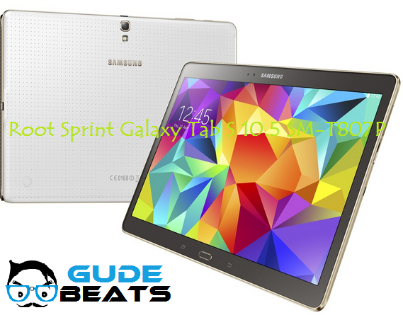 How to Install TWRP & Root Sprint Galaxy Tab S 10.5 SM-T807P On Android Lollipop