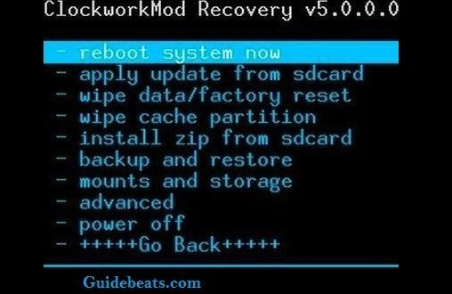 Install Firmware on LG Device on CWM Recovery