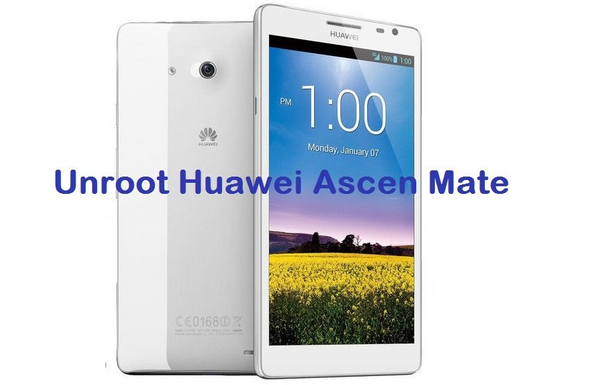 Unroot Huawei Ascend Mate