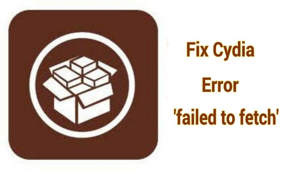 fix Cydia error
