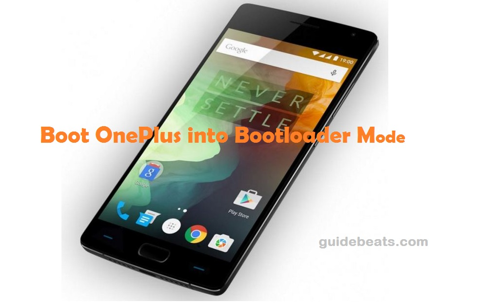Boot OnePlus into Bootloader Mode