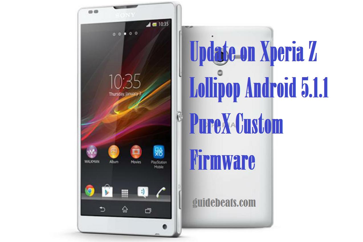 Xperia Z Lollipop Android 5.1.1 PureX