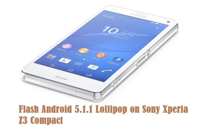 Android 5.1.1 Lollipop on Sony Xperia Z3 Compact