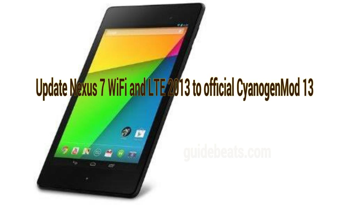 Update Nexus 7