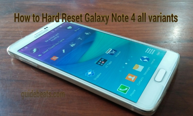 Hard reset Samsung Galaxy Note 4