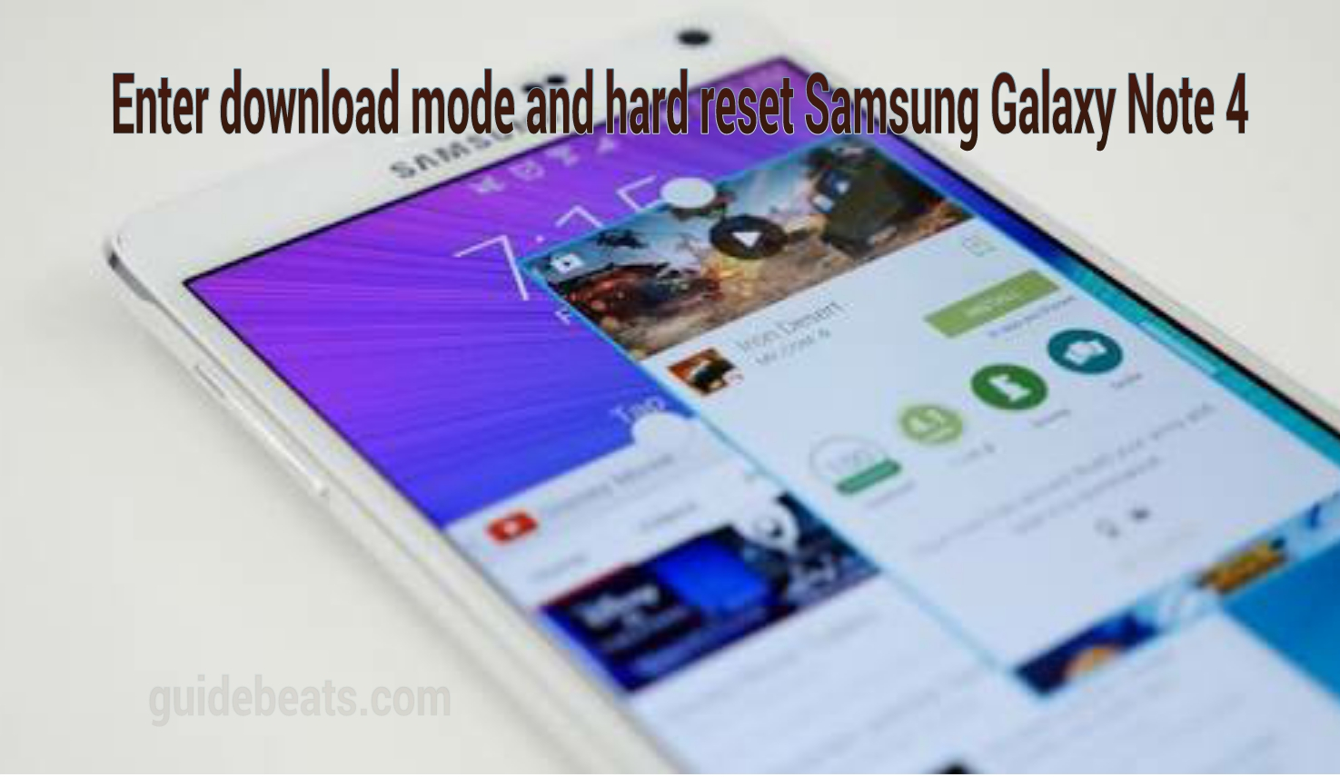 hard reset Galaxy Note 4