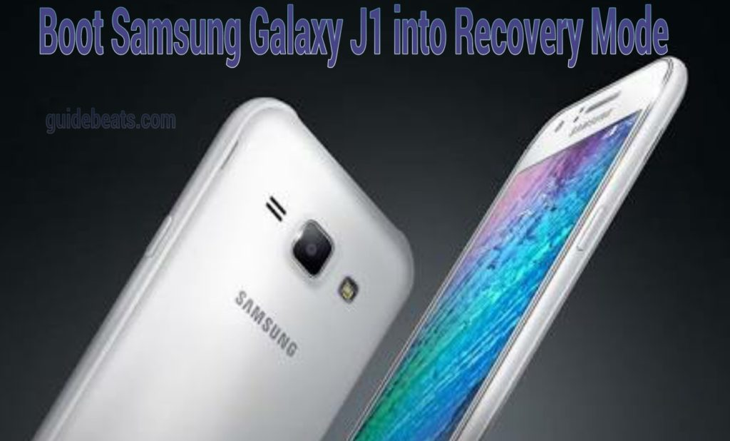 How to boot Samsung Galaxy J1 into recovery mode