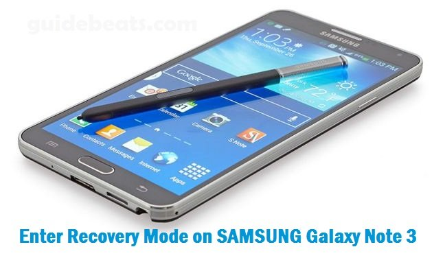 Enter Recovery Mode on SAMSUNG Galaxy Note 3