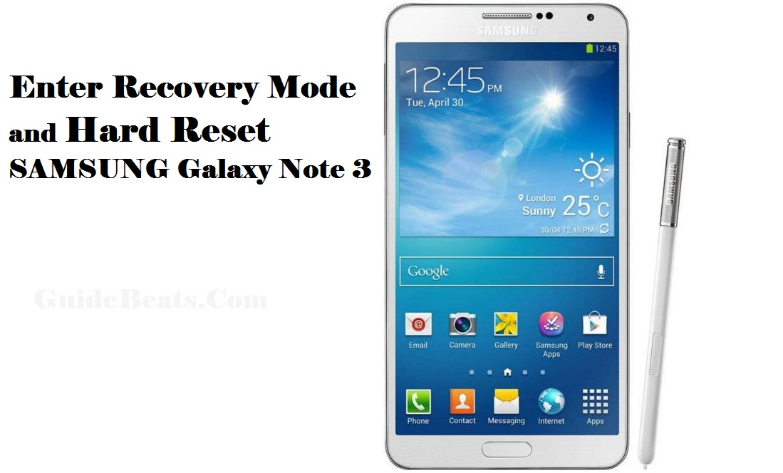Hard Reset SAMSUNG Galaxy Note 3