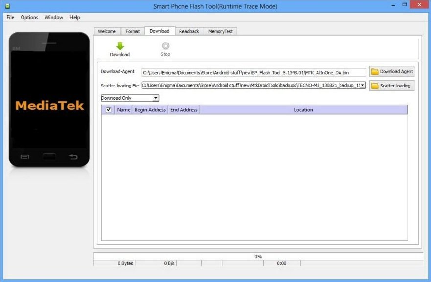 Use SP Flash Tool for MTK Android devices