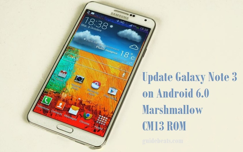 Update Galaxy Note 3 on Android 6.0