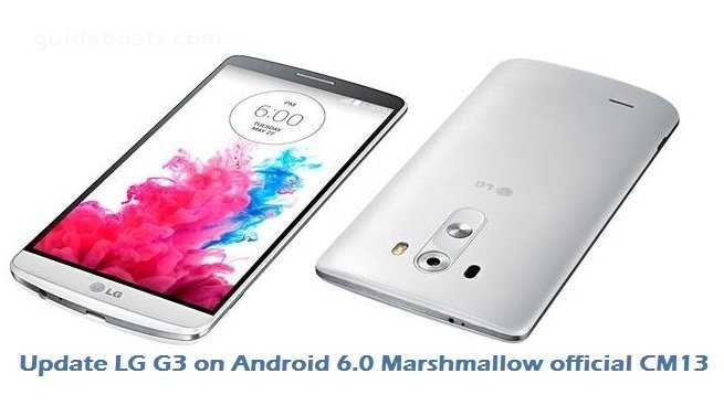 Update LG G3 on Android 6.0