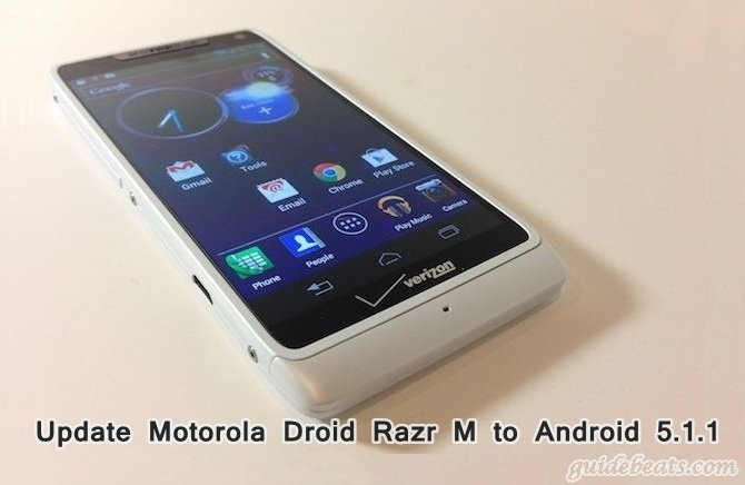 Update Motorola Droid Razr M to Android 5.1.1 Lollipop