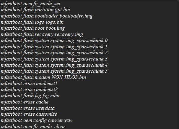 ADB Commands -Update Moto E 2nd Gen 2015