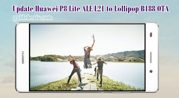 Update Huawei P8 Lite ALE L21 to Lollipop B188 OTA firmware