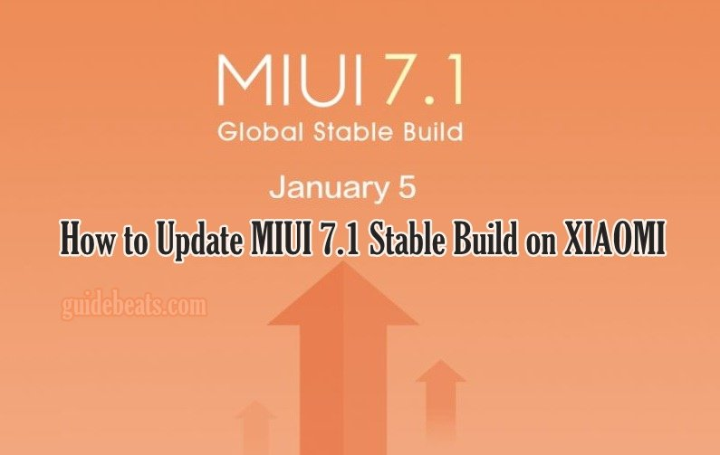 Update MIUI 7.1 Stable Build on XIAOMI MI NOTE, REDMI NOTE, PRIME, MI4I, MI 3, MI 4 and Others