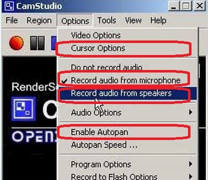 Desktop Activities Recording and Window Screen Capturing with Camstudio