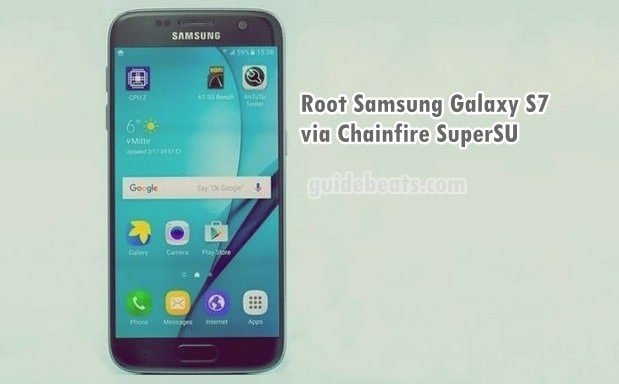 Root Samsung Galaxy S7 with Chainfire SuperSU