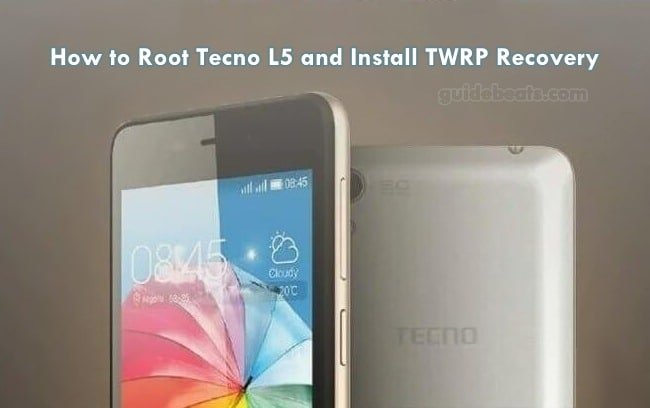 Root Tecno L5 and Install TWRP Recovery running Android 5 1 1