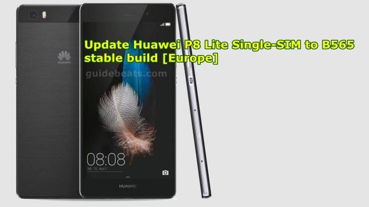update Huawei P8 Lite ALE-L21 Single-SIM to B565 Marshmallow