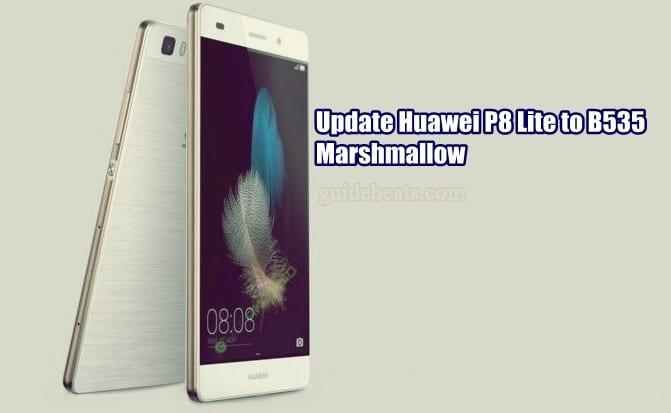 Update Huawei P8 Lite ALE-L21 to B535 Marshmallow Full Firmware [Russia]