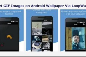 Set GIF Image on Android Wallpaper via LoopWall App