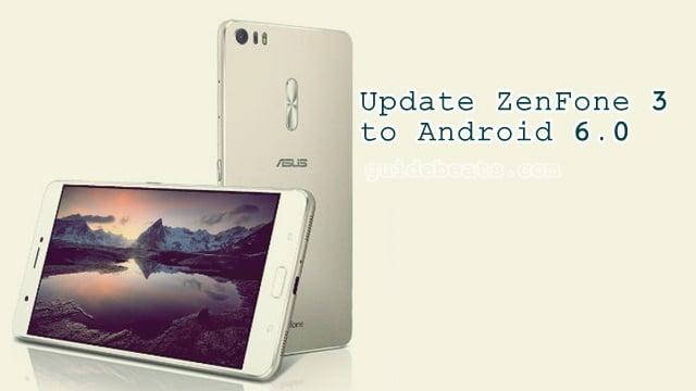 Update ZenFone 3 ZE520KL to Android 6.0 [13.20.10.40] Firmware build