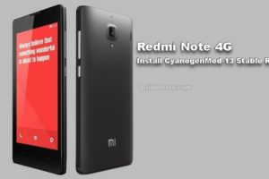 Download and Install Redmi Note 4G CM13 Stable ROM