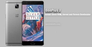 Unroot OnePlus 3 and Install Stock Firmware