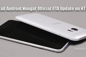 Install HTC 10 Android Nougat Official OTA Update