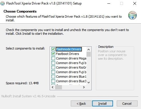 Install Sony official Firmware with Flashtool and XperiFirm