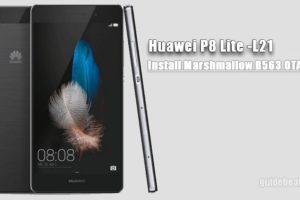 Install P8 Lite Marshmallow B563 OTA Update