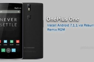 Install Android Nougat 7.1.1 on OnePlus One Resurrection Remix ROM