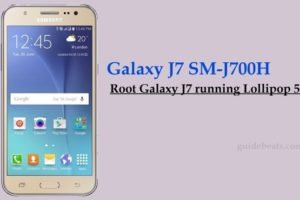 Root Galaxy J7 SM-J700H running Lollipop 5.1.1