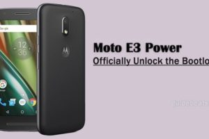 Officially Unlock Bootloader of Moto E3 Power