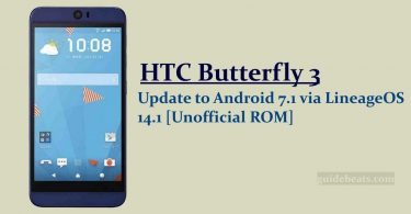 Update HTC Butterfly 3 B830x to Android 7.1 via LineageOS 14.1