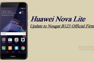 Update Huawei Nova Lite to Nougat B123 Official [Asia]