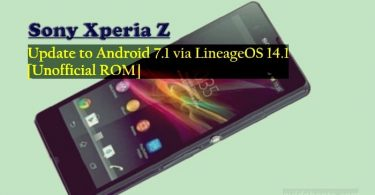 Update Xperia Z C6601 to Android 7.1 via LineageOS 14.1