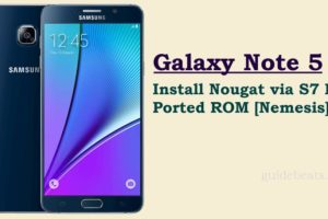Update Galaxy Note 5 to Nougat