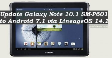 Update Galaxy Note 10.1 SM-P601 to Android 7.1