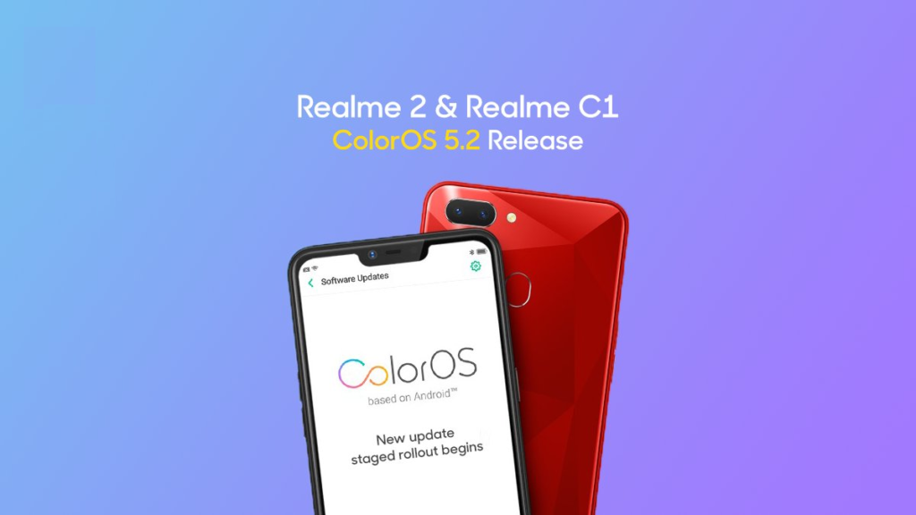 Download And Install ColorOS 5 2 For Realme C1 And Realme 2 Update