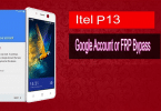 Reset FRP Bypass Google Account On Itel P13