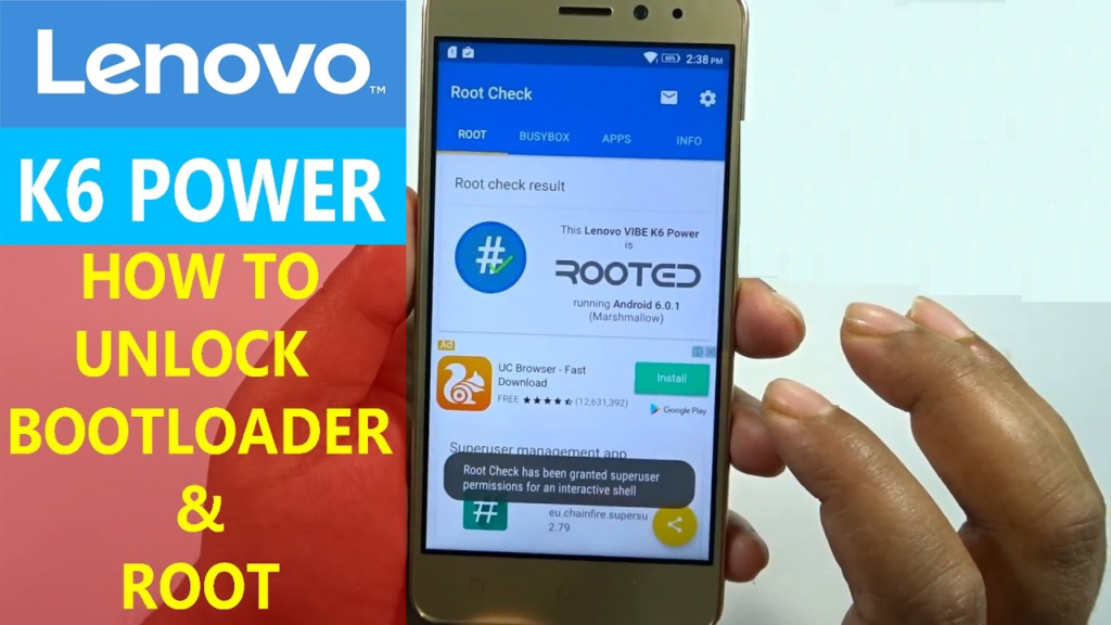 Unlock Bootloader On Lenovo Vibe K6 Power