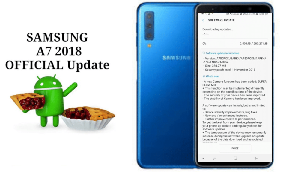 Guide To Install Samsung Galaxy A7 Android Pie Update Based On One