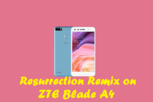 Download And Install Resurrection Remix On ZTE Blade A4