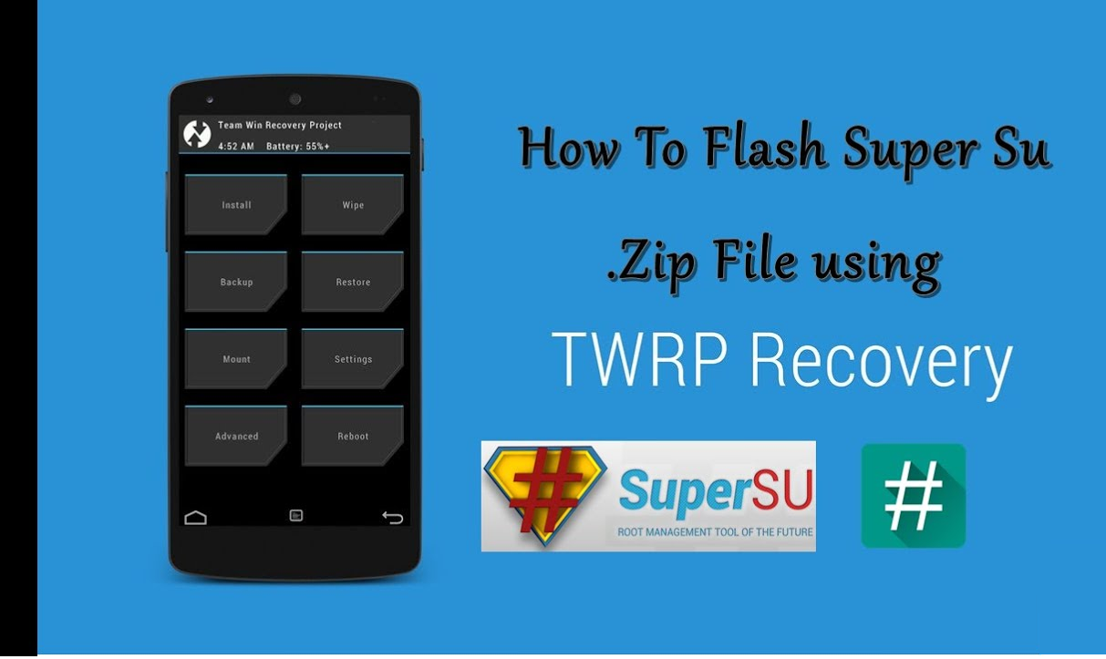 Download And Install SuperSU And Root The Android Device With Custom Recovery